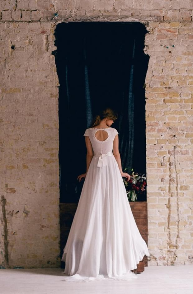 łezka na plecach suknia ślubna