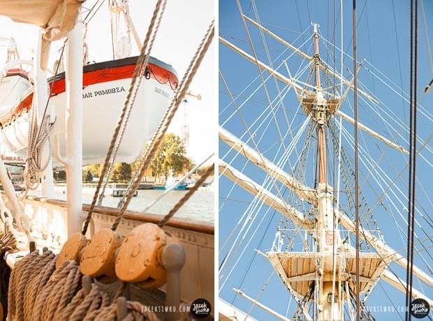 żeglarski ślub marynistyczny  motyw przewodni ślub na darze pomorza