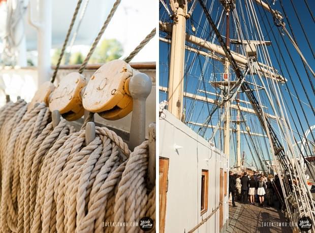żeglarski ślub motyw przewodni ślub na darze pomorza zdjęcia (15)