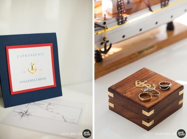 żeglarski ślub motyw przewodni zaproszenia