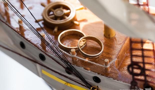 żeglarski ślub motyw przewodni ślub na darze pomorza zdjęcia