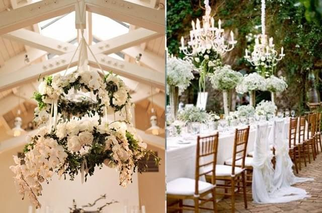 żyrandole dekoracja wesele zdjęcie