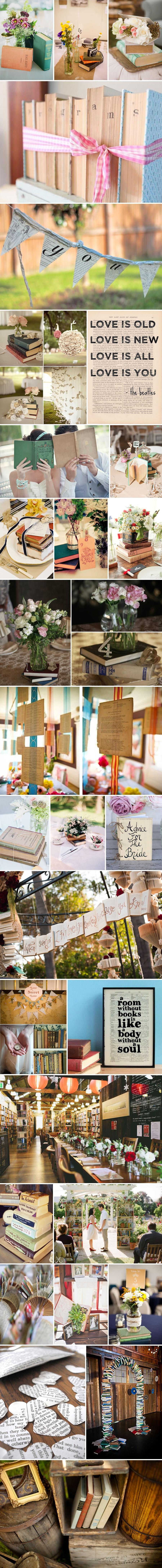 1 najwspanialsze dekoracje ślubne i weselne pomysły inspiracje książki z książek dla moli ksiażkowych