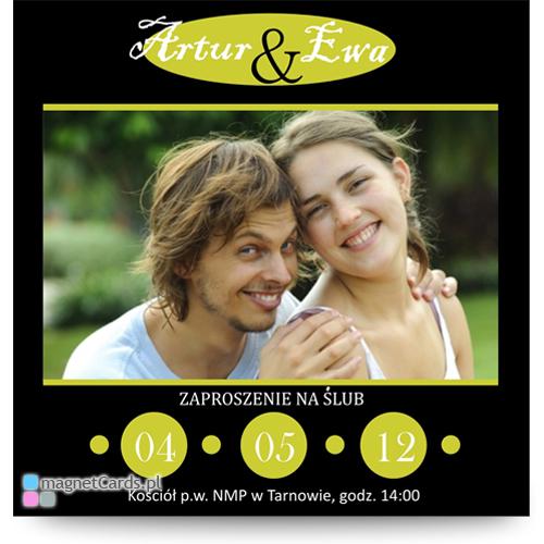 save the date oryginalne zawiadomienia o ślubie ślubne magnesy magnetyczne