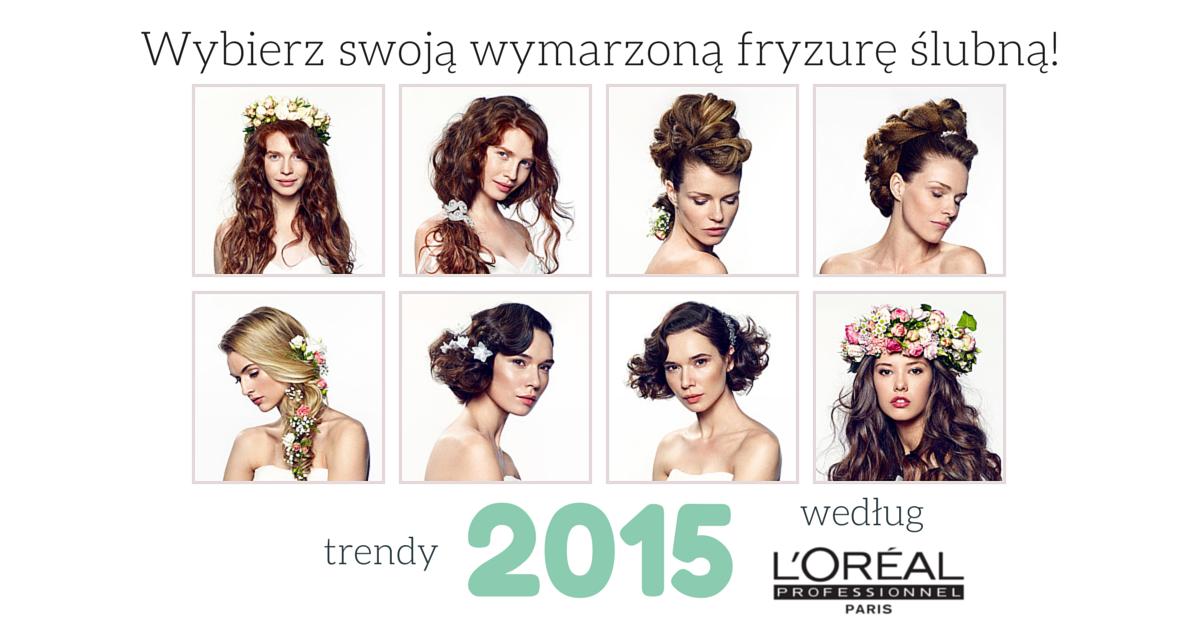 fryzury ślubne 2015 zdjecia