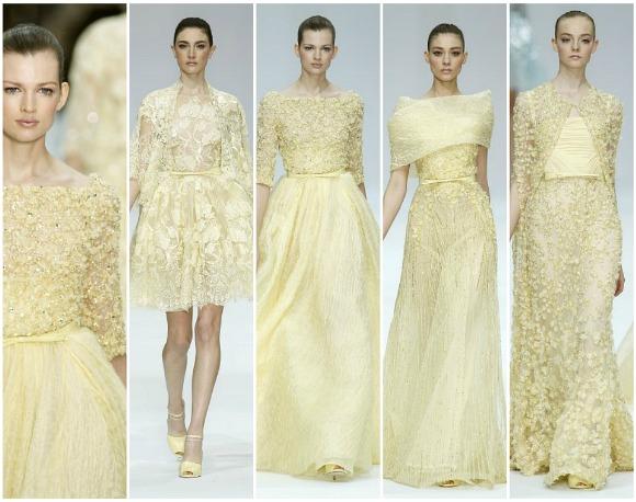 elie saab suknie ślubne 2013 kolorwe pastelowe sukienki dla druhen świadkowej panny młodej