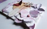ręcznie robione zaproszenia slubne z papieru hand made scrapbooking KARTKI NA SLUB