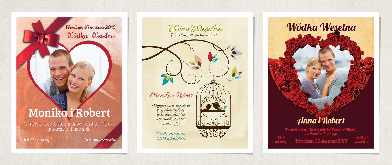 3-etykiety-w-rzedzie etykiety na wodke wesele