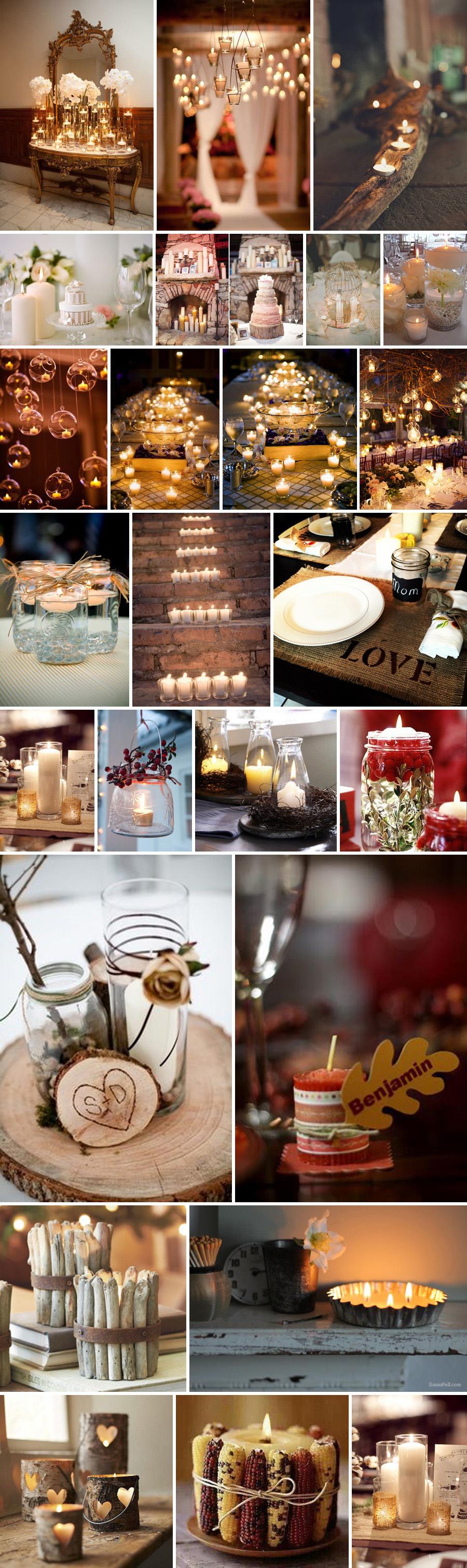 4 inspiracje świece dekoracja sali