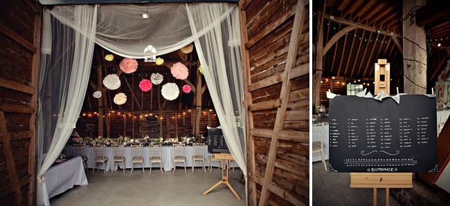 wiejskie rustykalne wesele w plenerze w stodole