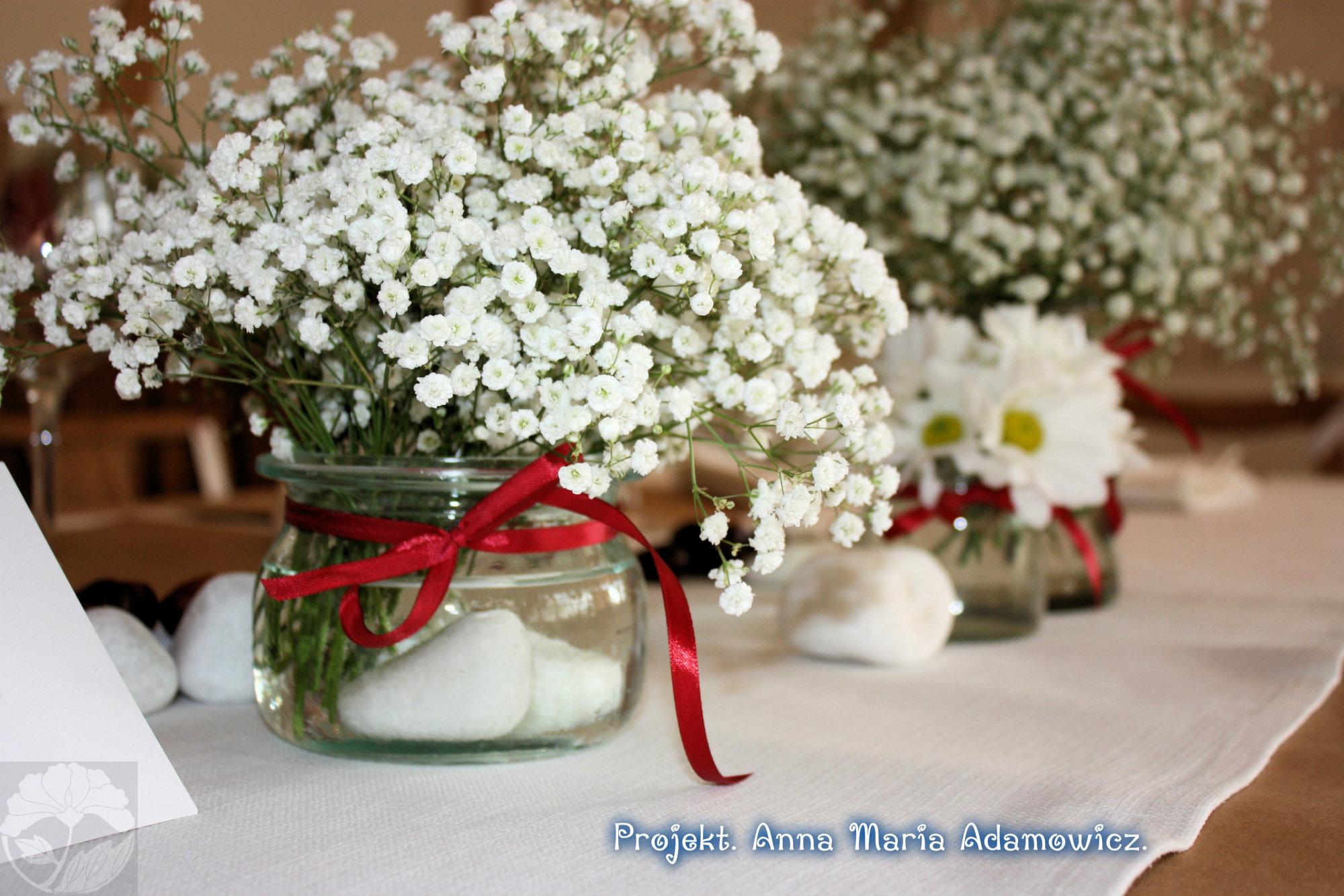 gipsówka slub wesele dekoracje bukiet 2013 2014