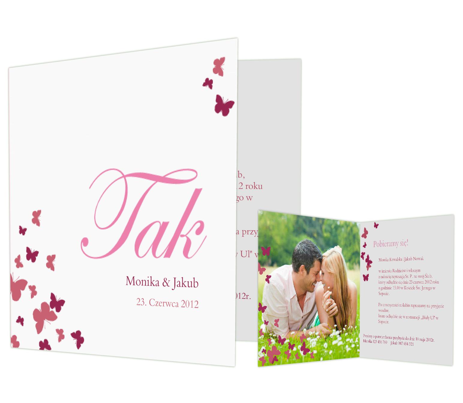 personalizowane zaproszenia wymarzone zaproszenia ślubne Save The Date RSVP papeteria ślubna sendmoments
