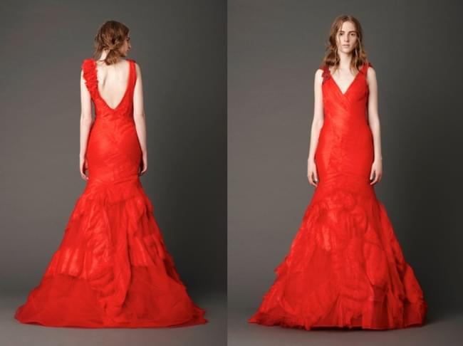 Vera Wang suknie ślubne ceny kolekcja 2013 czerwona