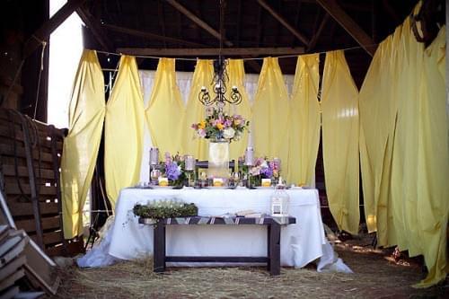 żółty przeowdni kolor wesela slubu inspiracje dekoracje cytrynowe