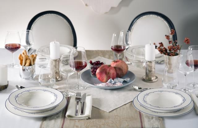 zimowy ślub dekoracje stołu
