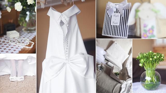 real wedding sweet wedding blog ślub magdy i  radka wasze śluby suknia z kokardą
