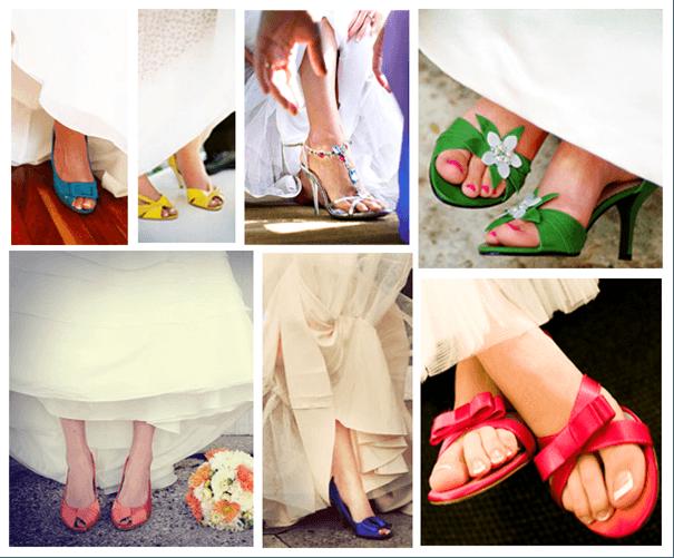 fajne kolorowe buty do ślubu do sukni ślubnej