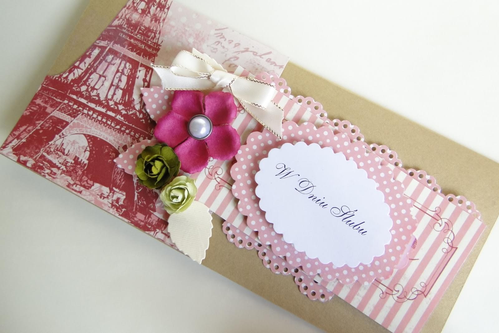 hand made ślub wesele kartka zaproszenia z papieru scrapbooking księgi gości