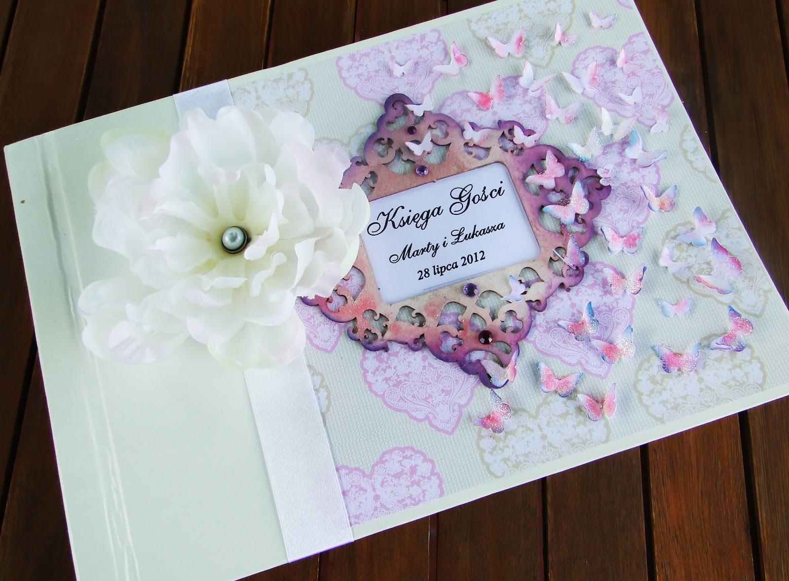 Kart-Deco zaproszenia ślubne, komunijne, na chrzest, ręcznie robione, papeteria slubna, z papieru, hand made scrapbooking księga gości