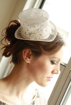 kapelusz na ślub cylinder toczek