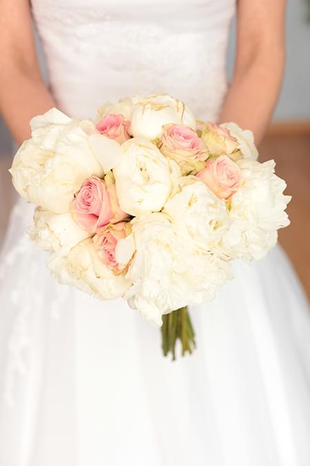 wiązanka ślubna z piwonii