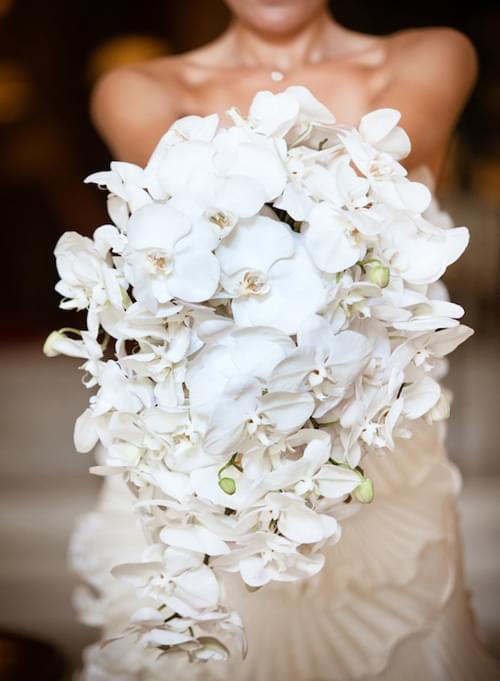 storczyki bukiet ślubny