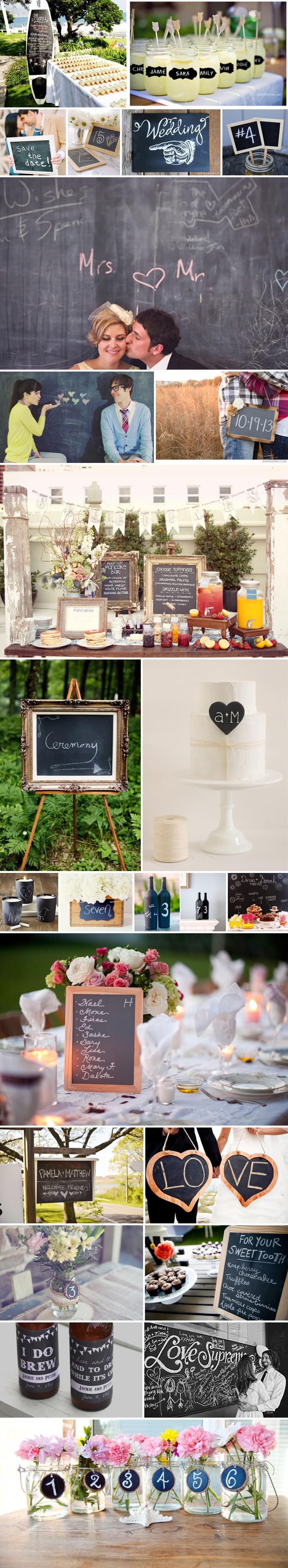 dekoracje kredowe tabliczki kredowe ślub wesele sklep pomysły