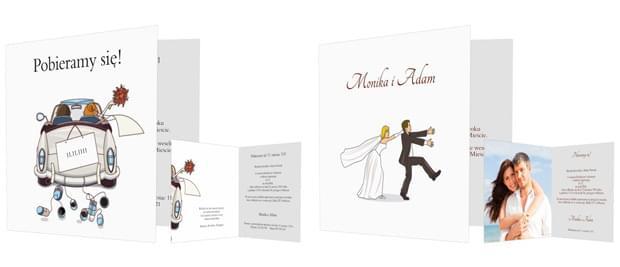dowcipne zaproszenia ślubne