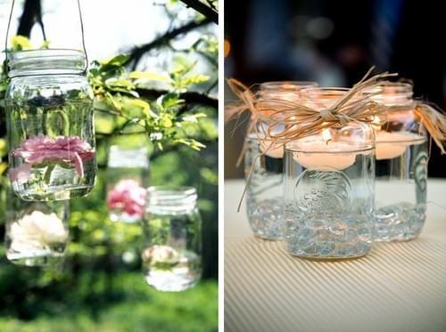 słoiki dekoracje na wesele