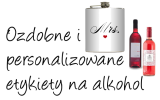 etykiety na alkohol