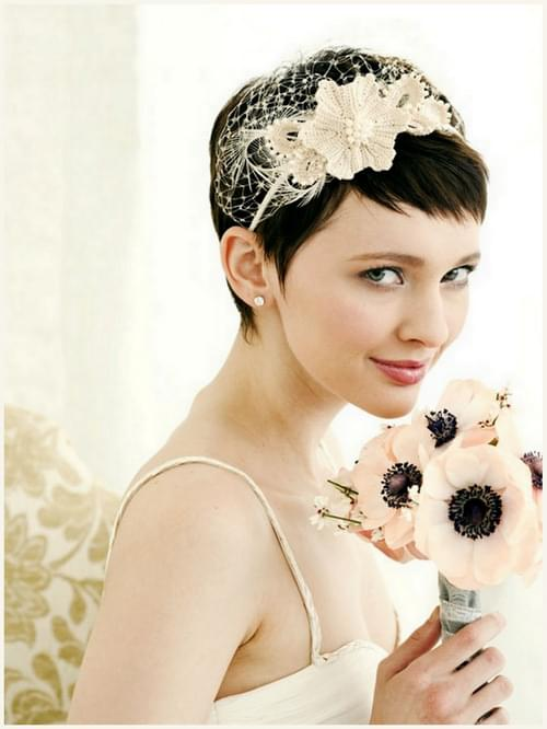 krótkie fryzury ślub wesele  ozdoby do włosów