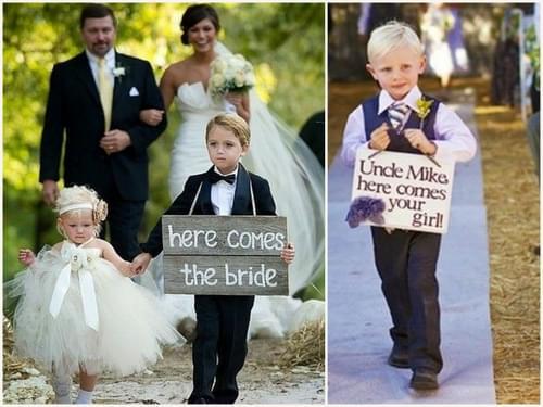 dzieci na ślubie sypanie kwiatków niosą obrączki