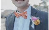 kolorowa muszka na ślub, pan młody muszka, butonierka pan młody