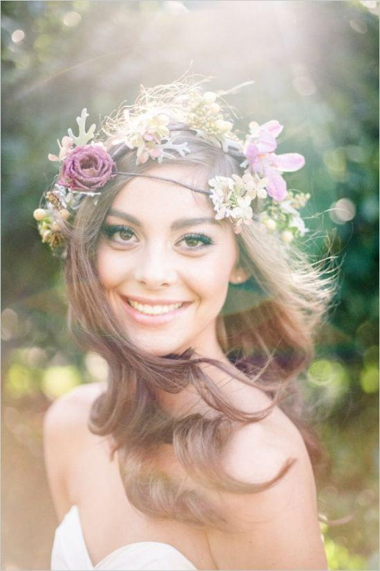 Bridal Makeup Flower Making : Sweet wedding fryzury lubne rozpuszczone w osy