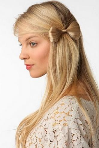 fryzury na ślub glamour kokarda