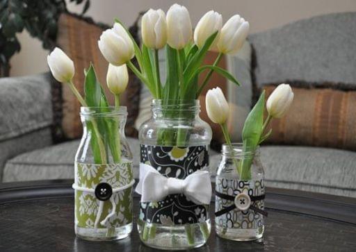 jak zrobić wazon ze słoika