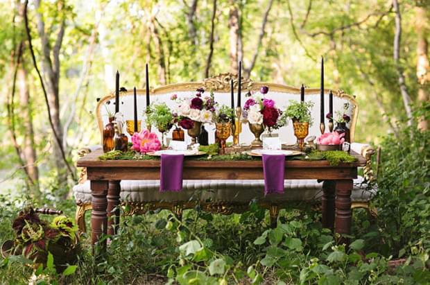 inspiracje dekoracje stołu natura eko