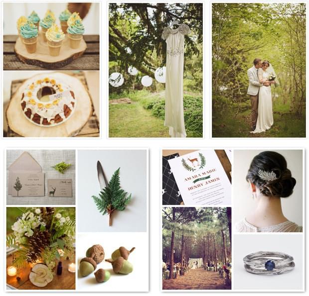 inspiracje na wesele motyw lasu