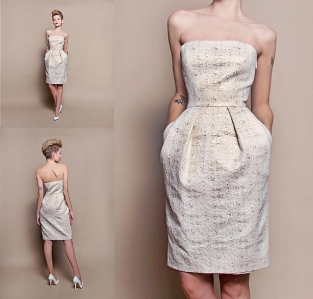 krótka suknia ślubna na ślub cywilny