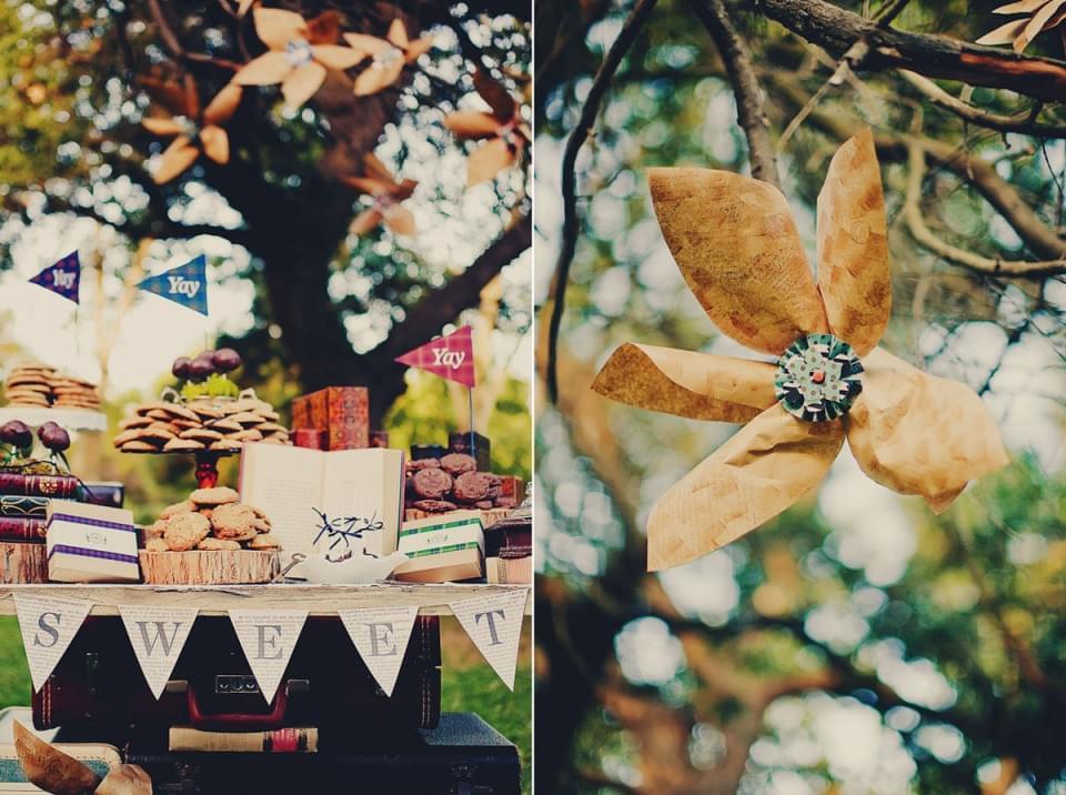 jesień ślub słodki stół