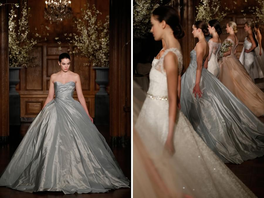 keveza suknie slubne 2014 szara suknia slubna srebrna