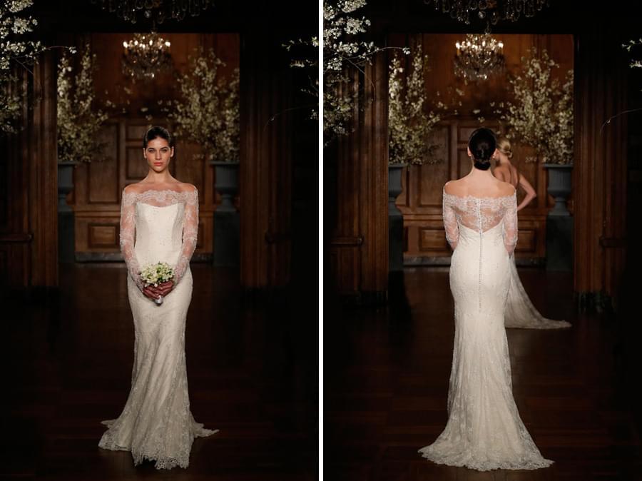 keveza suknie slubne 2014 wąska suknia ślubna koronka
