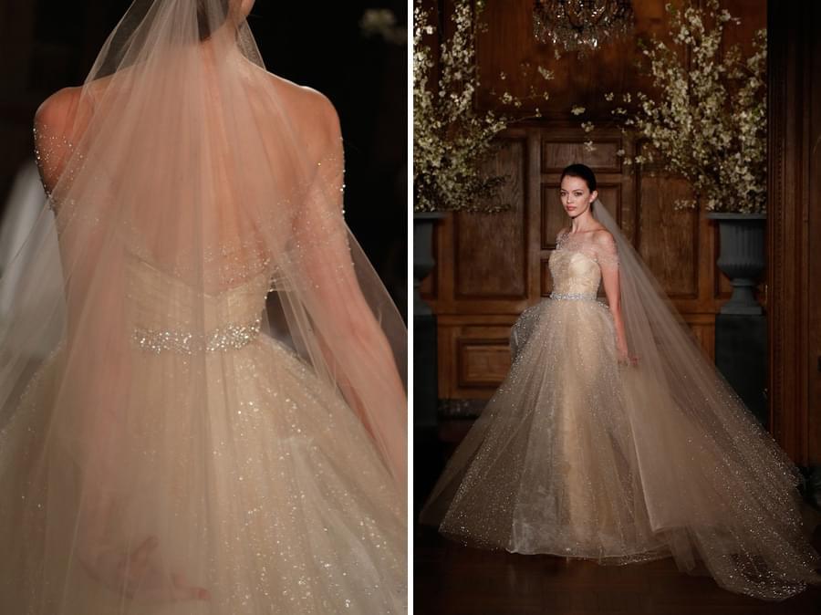 keveza suknie slubne 2014 złota suknia ślubna