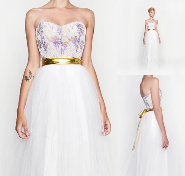 kolorowe sukienki ślubne zdjęcia