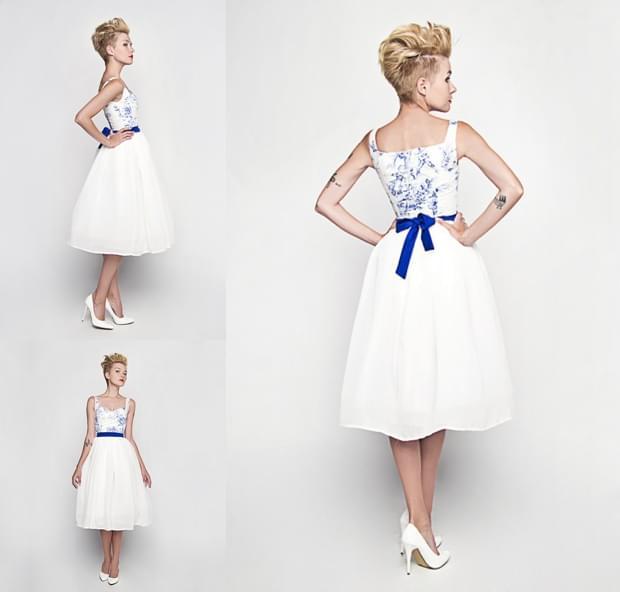krótkie sukienki ślubne zdjęcie