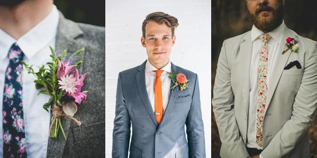 krawaty w kwiaty