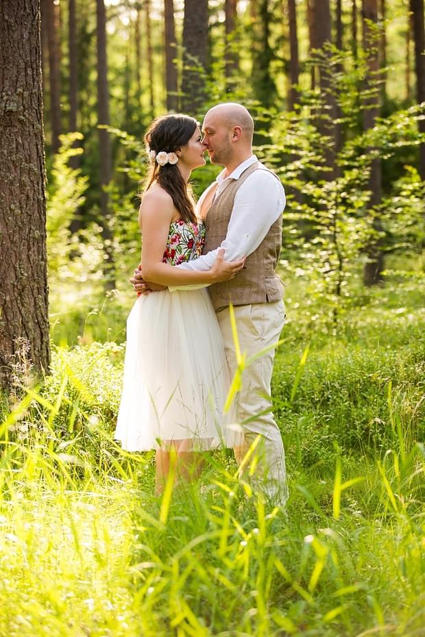 krótka suknia ślubna kolorowa jacek siwko zdjęcie
