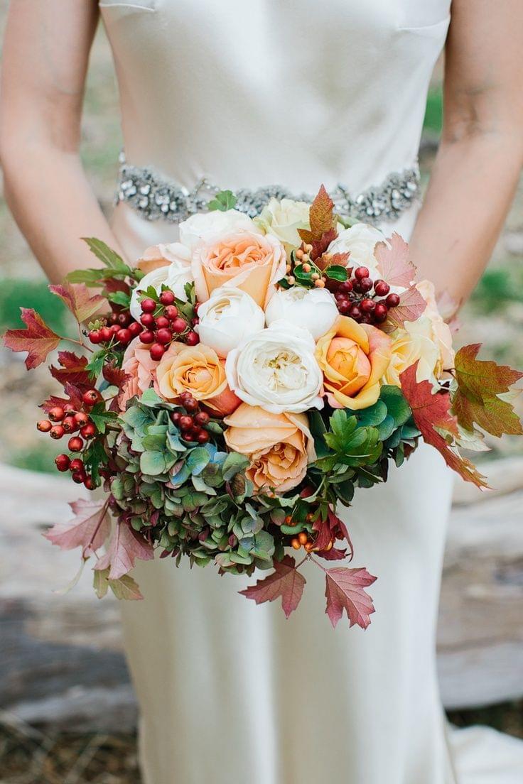 kwiaty jesień wiązanka ślubna