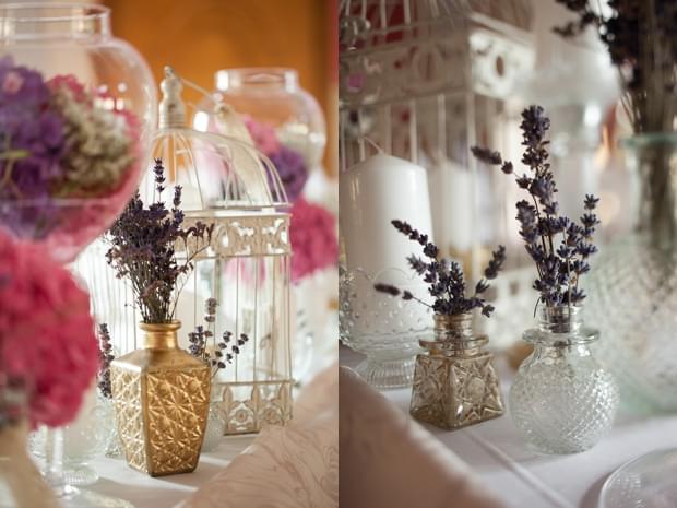 lawenda dekoracja stołów