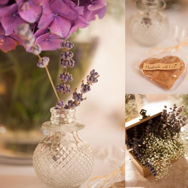 lawenda wesele dekoracje
